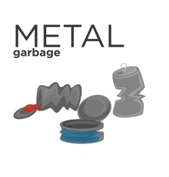 Metal waste vector