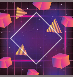 Neo graphic texture and geometric style vector