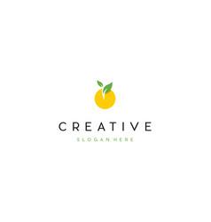 Orange fruit meal creative business logo design vector
