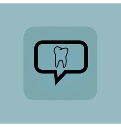 Pale blue tooth message icon vector
