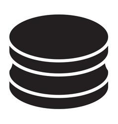 Piercing plug iconblack icon vector