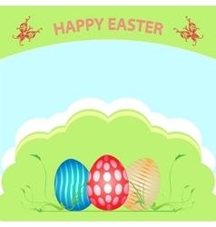Postcard Easter Happy vector image