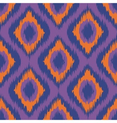 Purple ikat stripes seamless background orange vector