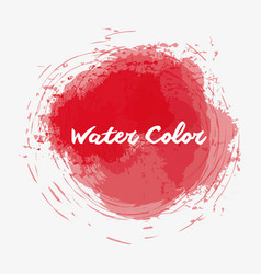 Red watercolor art paint vector