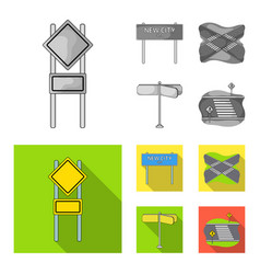 Road signs and other web icon in monochromeflat vector