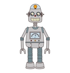 Robot kid toy icon vector