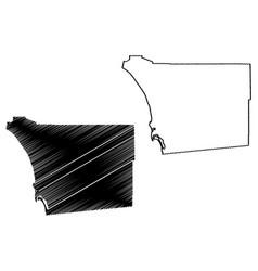 San diego county california map vector