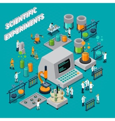Scientific experiments isometric composition vector