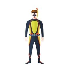 Scuba suit man vector image