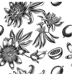 seamless pattern with black and white passion vector image