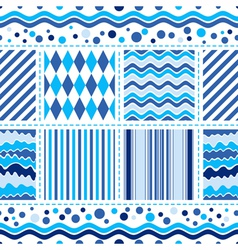 Seamless white-blue pattern vector image