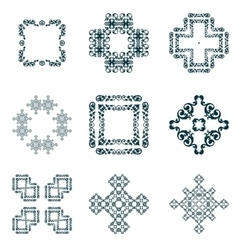Set frame and decorative element vector
