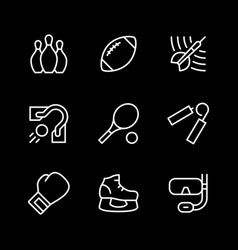 set line icons sport vector image