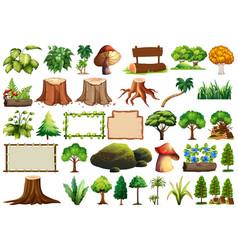 set nature element vector image