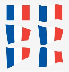 Set of french flags vector image