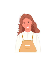 Smiling girl portrait in casual clothing vector