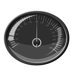 Speedometer 140 km in hour icon vector image