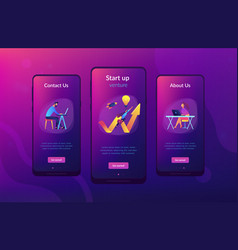 start up launch app interface template vector image