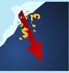 Stockmarket arrow down vector