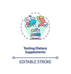 Testing dietary supplements concept icon vector