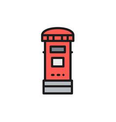 traditional london postbox post mailbox flat vector image