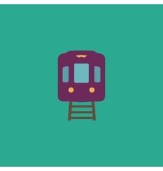 train flat icon vector image