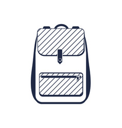 travel backpack isolated icon vector image