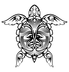 Tribal totem animal turtle tattoo vector