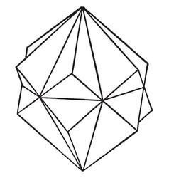 Twin rhombohedrons vintage vector