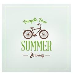 Vintage hipster summer holidays label or badge vector