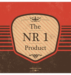Vintage Label Design with Retro Background vector image