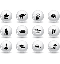 Web buttons thai icons vector