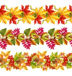 Autumn Leaves Seamless Border vector image