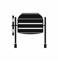 Concrete mixer icon simple style vector image