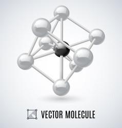 Molecular structure vector image