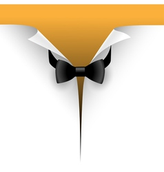 paper with a bow tie vector image vector image