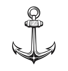 vintage anchor isolated on white vector image vector image