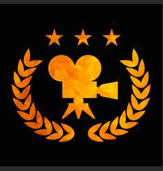 golden tryangle film award black vector image
