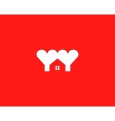 Heart house logotype Love home logo symbol vector image vector image