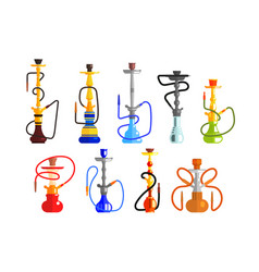 hookah set hookah with pipe for smoking tobacco vector image