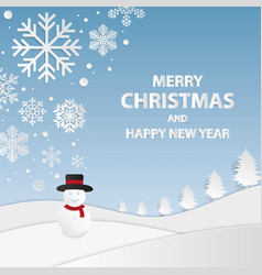 merry christmas and happy new year backgrounds vector image vector image