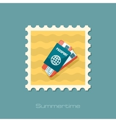 Passport with tickets stamp Summer Vacation vector image vector image