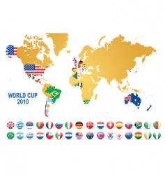 world cup background vector image vector image