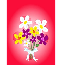 Bouquet of flowers card vector image vector image