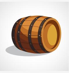cartoon wooden barrel vector image vector image