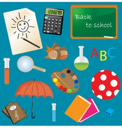 Classroom Items vector image