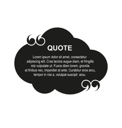 cloud quote vector image vector image