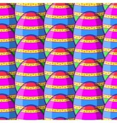 egg striped pattern vector image