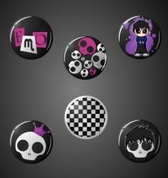emo badges vector image vector image
