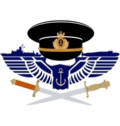 The icon of the Russian Navy vector image